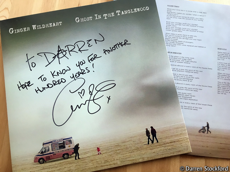 Ghost In The Tanglewood on vinyl, signed by Ginger Wildheart
