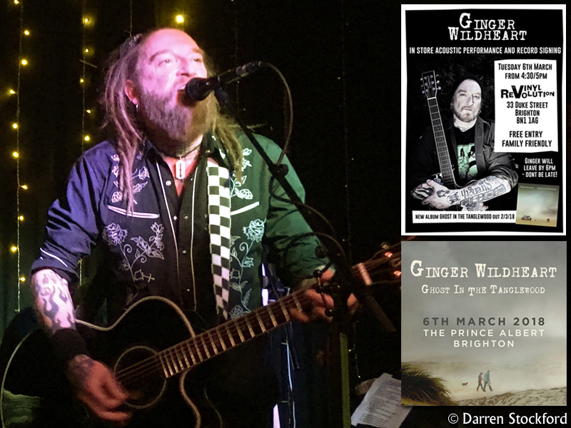 Ginger Wildheart at The Prince Albert, Brighton, 6 March 2018