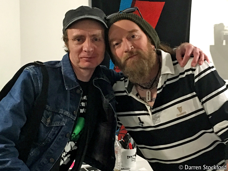 Me with Ginger Wildheart at Vinyl Revolution, Brighton, 6 March 2018