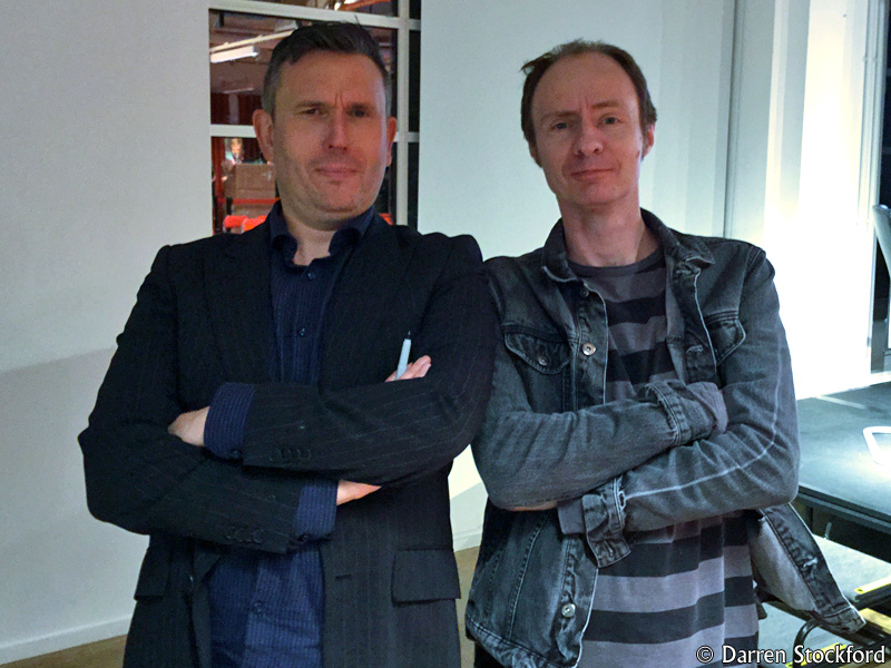 Me with James Goss at Foyles, Charing Cross Road, 13 September 2017