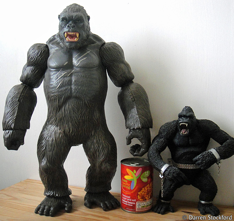Two Kong figures: Lanard and MacFarlane
