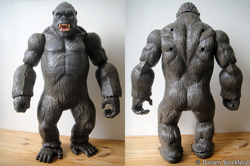 Front and rear views of the Kong figure by Lanard