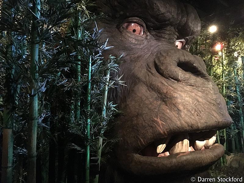 Kong head at Madame Tussauds, London