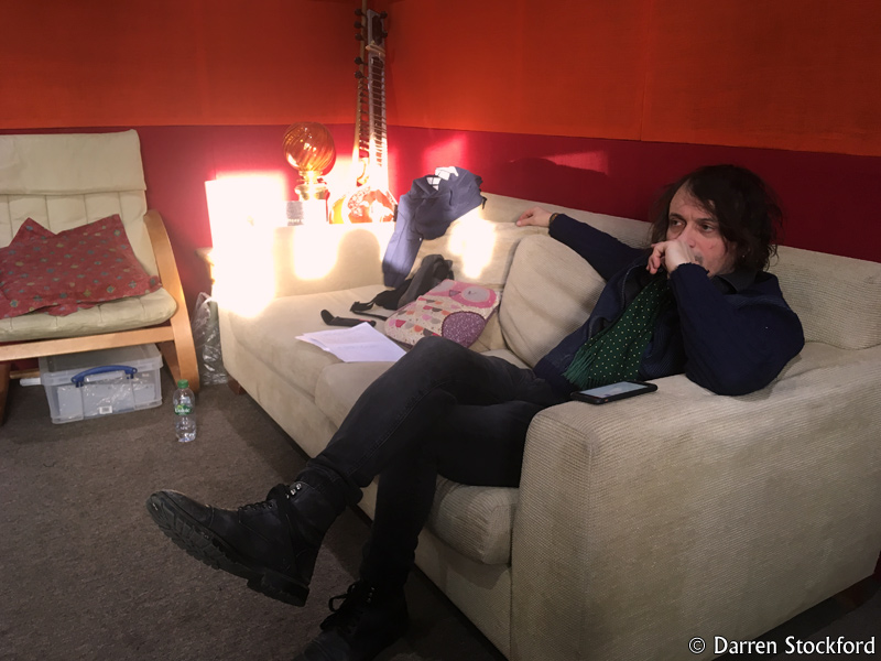 Marc Valentine of Last Great Dreamers at Henwood Studios, 12 December 2017