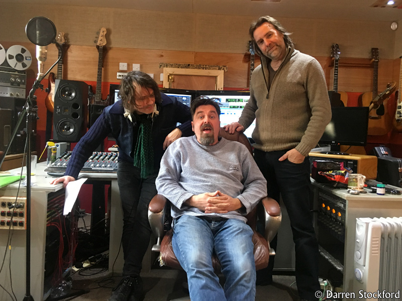 Marc and Slyder of Last Great Dreamers with Pete Brown at Henwood Studios, 12 December 2017