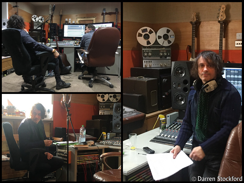 Marc Valentine of Last Great Dreamers with Pete Brown at Henwood Studios, 12 December 2017