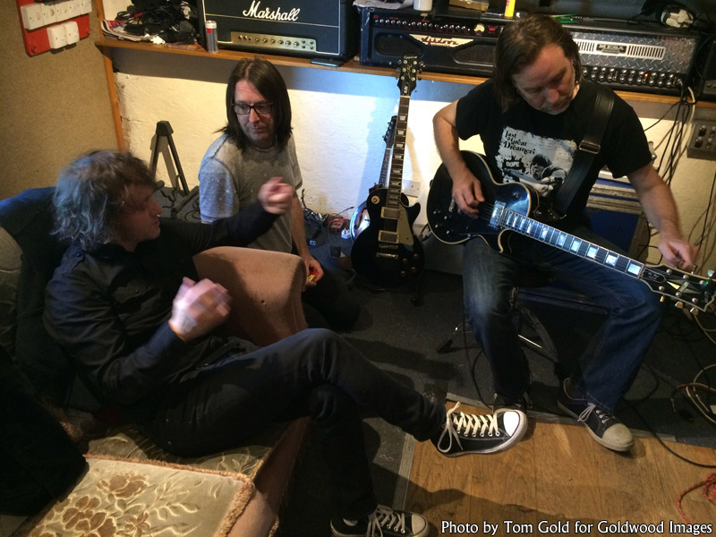 Marc, Den and Slyder of Last Great Dreamers at Foel Studio, summer 2016