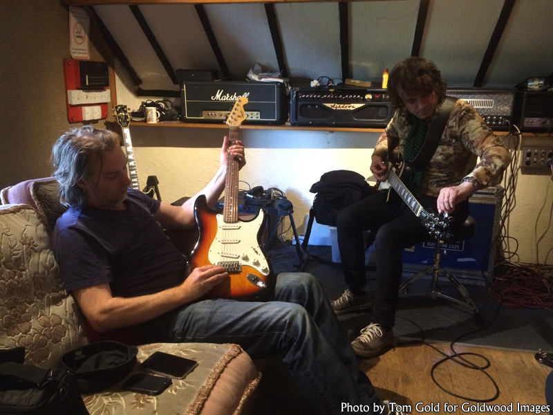 Slyder and Marc of Last Great Dreamers at Foel Studio, summer 2016