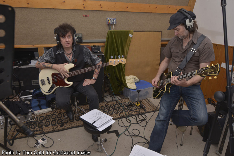 Steve and Slyder of Last Great Dreamers at Foel Studio, summer 2016