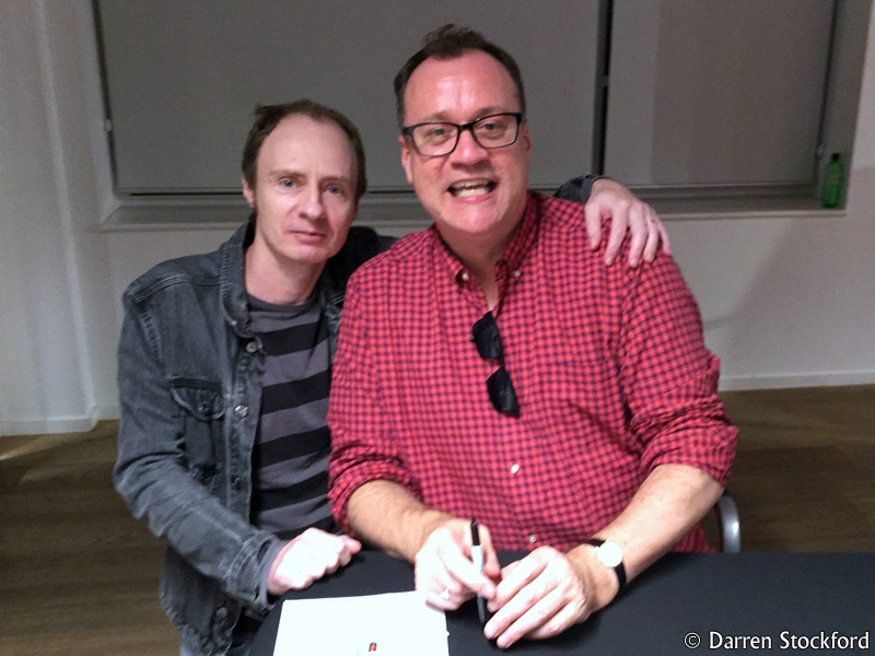 Me with Russell T Davies at Foyles, Charing Cross Road, 13 September 2017