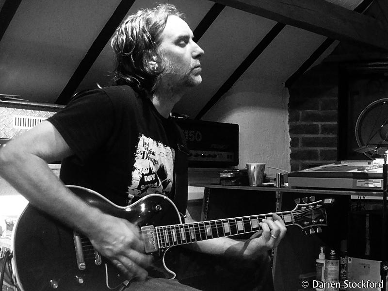 Slyder of Last Great Dreamers at Foel Studio, Wales, 3 July 2016