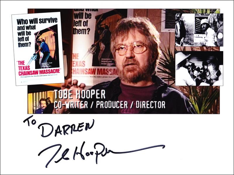 Tobe Hooper autographed 8x10