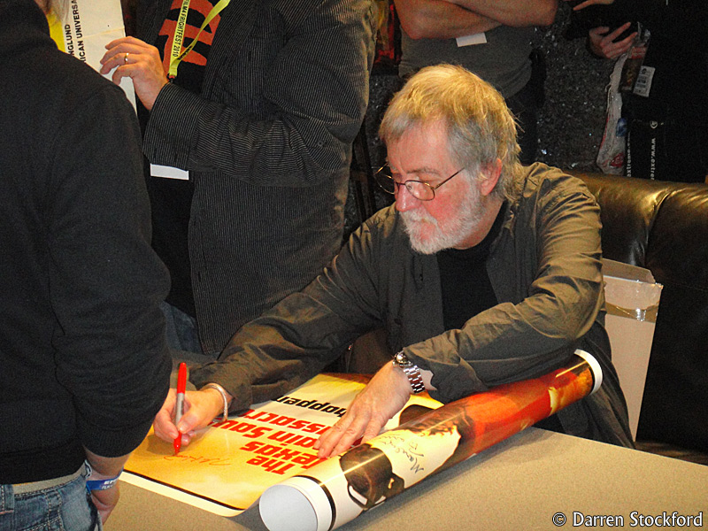 Tobe Hooper signing for fans at FrightFest, 27 August 2010