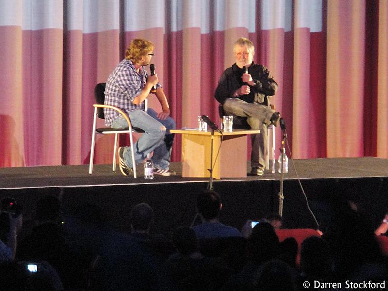 Tobe Hooper being interviewed at FrightFest, 27 August 2010